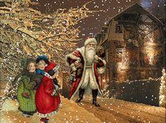 tutto glitter: immagine natalizia con babbo natale