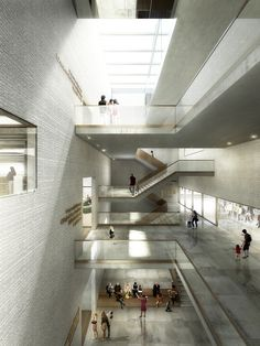 Image 5 of 21 from gallery of EM2N to Build Basel's New Museum of Natural History and State Archives. Staircase hall Museum of Natural History Basel. Image © EM2N; Render by Luxigon