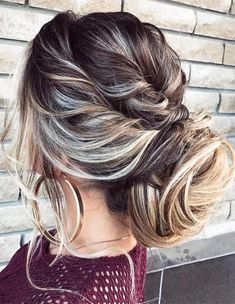 Casual Messy Updo Hairstyles 2018