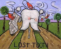 Diente perdido lámina Dental dientes coleccionables Anthony