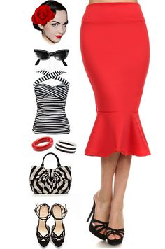 Just added to Le Bomb Shop! True Red in our Stylish Staple High-Waist Mermaid Skirt! Only $20 with FREE U.S.! Buy the True Red and 4 other colors here at Le Bomb Shop: http://lebombshop.net/search?type=product&q=mermaid&search-button.x=0&search-button.y=0