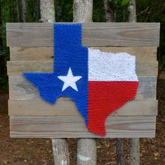 12x12 state of texas with texan flag fill string by hookandnail texas flag nail and string art by stencilsandstring on etsy prinsesfo Image collections