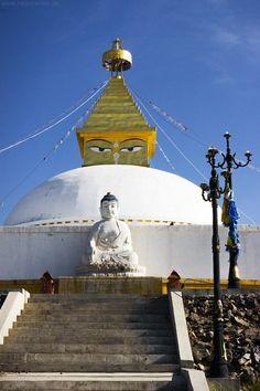 Stupa in der Nähe des Klosters Amarbayasgalant in der #Mongolei.
