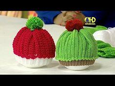 Sabor de Vida Artesanatos | Gorrinho  Cupcake em Crochê por Jackie Fonse...