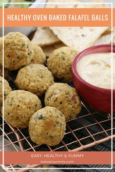 Deliciously healthy oven baked falafel balls made from chickpeas & baked to crispy perfection. Serve with hummus and tabbouleh for a nutritious family meal! Toddler Meals, Kids Meals, Easy Meals, Snacks Kids, Toddler Recipes, Toddler Food, School Snacks, Baked Falafel, Recipes
