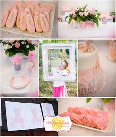 pink prima ballerina tutu birthday party dessert table with ballet cookies and pink heart shaped peanut butter and jelly cookies Birthday Party Desserts, Ballerina Birthday Parties, Ballerina Party, 4th Birthday, Birthday Ideas, Barbie, Little Girl Birthday, Art Party, Childrens Party