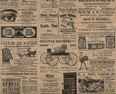 Vintage Look ~ Rochester, NY Newsprint Ads ~ Tissue Paper #507 ~ 10 Large Sheets #Unbranded #AnyOccasion