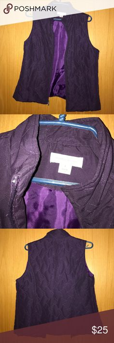 Christopher & Banks purple puffy vest Great condition! Low puff Christopher & Banks Jackets & Coats Vests
