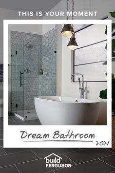 What's in your ideal bathroom? A luxury shower, designer lighting, stunning sinks? If you can imagine it, you can find it here. Master Bathroom Shower, Bathroom Layout, Bathroom Interior Design, Small Bathroom, Bathroom Ideas, Tub Remodel, Master Bath Remodel, Ideal Bathrooms, Luxury Shower