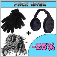 Pack Hiver Cache-oreille noir Prix : 24.90€ http://www.bonnets-company.com/pack-hiver/466-pack-hiver.html
