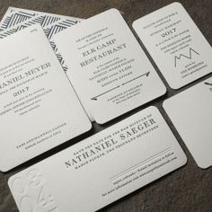 Montrose letterpress Bar Mitzvah invitation suite from Smock
