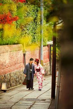 京都で撮影した冬の結婚フォト。和装ロケーションウェディング。