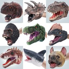 Dolphin Animal Hand Puppet Infant Children Hand Puppet Big Mouth Animal Toy T-Rex Gloves Figure Model Toys Kids Gift