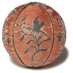 Silk ball 18th century, France