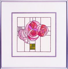 Charles Rennie Mackintosh Rose Motif Cross by HeartlandHouseDesign, $30.00