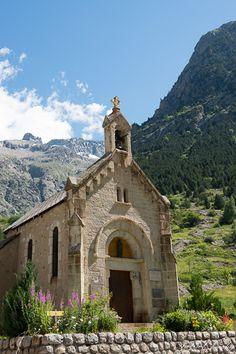 Chapelle de la Bérarde à Saint-Christophe-en-Oisans. Isère