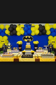 Batman birthday party idea #decorations #ideas