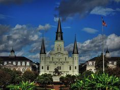This is St. Louis Cathedral in New Orleans, LA.