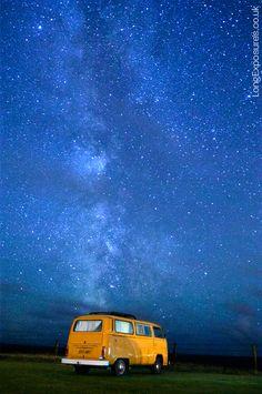 Starry Night, VW Yellow Bus