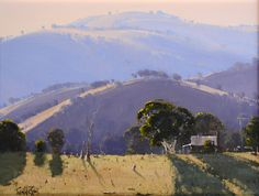 Australian landscape paintings by John Wilson. – Alternative Home Watercolor Landscape, Abstract Landscape, Landscape Paintings, Australian Painting, Australian Artists, John Wilson, Landscaping Las Vegas, Long Painting, Royal Art