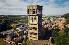 Shaft No. 3 tower at the Coal Mine of Hasard de Cheratte in Belgium [2048x1365][OC]