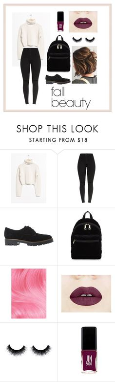 """""""Autumn looks"""" by gabiinovais-1 ❤ liked on Polyvore featuring Dune, Sandro, Lime Crime and JINsoon"""