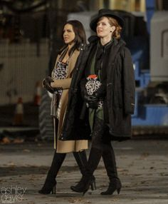 Lana Parrilla and Rebecca Mader - ONCE UPON A TIME - set