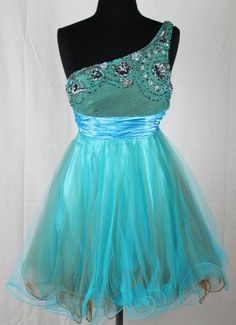 Zeilei 2107 One Shoulder Sweet 16 Babydoll Prom « Dress Adds Everyday