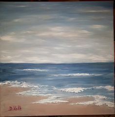 Original painting akrylik on canvas D. Original Paintings, Waves, The Originals, Outdoor, Outdoors, Outdoor Games, The Great Outdoors