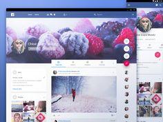 Facebook in material design by uixNinja #Design Popular #Dribbble #shots