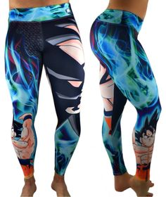 Goku Superhero Leggings Yoga Pants Compression Tights ** Click image for more details. (This is an affiliate link) Best Leggings, Tops For Leggings, Workout Clothes Cheap, Workout Clothing, Athletic Outfits, Athletic Clothes, Superhero Leggings, Cute Gym Outfits, Black Tights