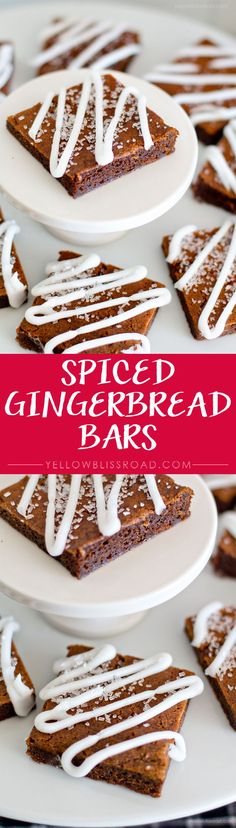 Spiced Gingerbread Bars - a delicious Christmas treat recipe!