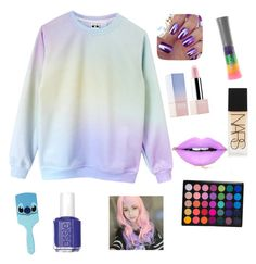 """""""les couleurs licornes"""" by girlyaddict on Polyvore featuring mode, Disney, Sephora Collection, Essie, NARS Cosmetics, Fiebiger et Clair Beauty"""