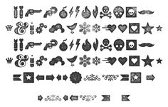 Check out these neat stamped dingbats (I love the mustache). Free!