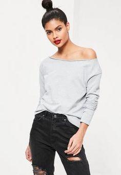 Raw Edge Sweatshirt Grey