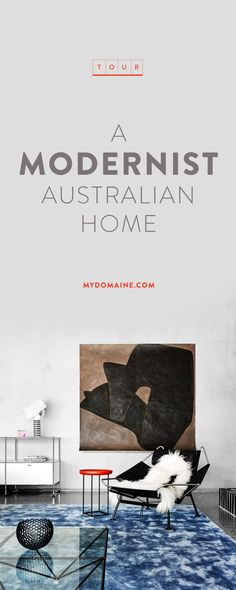 Step inside a modern Australian home with oversize abstract artwork, and relaxed modernist style
