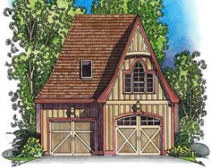 Picturesque Stick Style Garage