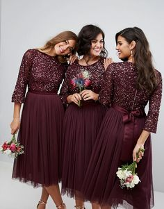 Indian Wedding Bridesmaids, Indian Bridesmaid Dresses, Bridesmaid Dresses With Sleeves, Bridesmaid Dress Colors, Modest Dresses, Stylish Dresses, Pretty Dresses, Bridal Dresses, Fashion Dresses