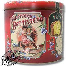 Scatola di latta rotonda Panettone Battistero