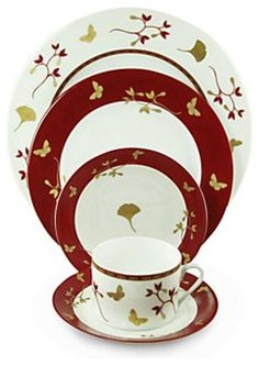 Philippe Deshoulieres Ginkgo 5-Piece Place Setting - contemporary - Dinnerware Sets - Fine Brand Sales