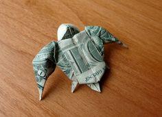 Dollar Origami Sea Turtle v3 by craigfoldsfives.deviantart.com on @DeviantArt