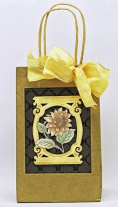 Explore. Dream. Discover.:  Sunflowers Vintage Labels Five Cling Stamp Set