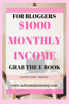 How to easily make money from your blog. Are you looking for ways to monetize your blog? Grab the e-book today! Make money blogging, blog income report, how to make money online. Blog your way to success.