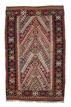 Sivrigisa-Kilim, mid 19th century, 2,05 x 1,27m #Martin Posth Collection 19th Century, Rugs, Collection, Farmhouse Rugs, Rug