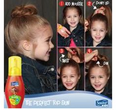 LOVE @Federico Barrera Beauty products to use on kids! Here are 4 easy hairstyles for BTS time! #Back2School
