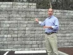 This video discusses the advantages of a Redi-Rock gravity retaining wall in comparison to walls with geogrid and to reinforced concrete cantilever walls. Gravity Retaining Wall, Building A Retaining Wall, Retaining Walls, Professional Engineer, Water, Youtube, Gripe Water, Youtubers, Youtube Movies