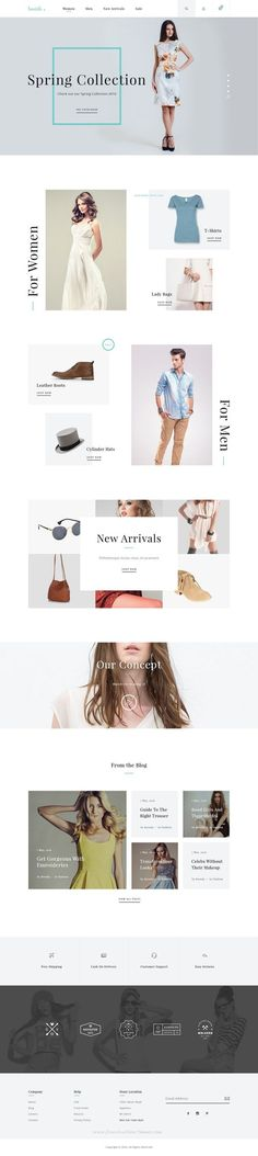 Boutik is Clean and Minimal Fashion Store PSD Template. You can use this template to create your own small online store.