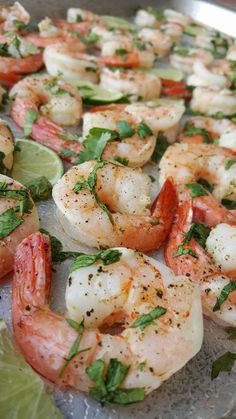 Clean Eating One Pan Cilantro-Lime Shrimp http://cleanfoodcrush.com/cilantro-lime-shrimp/