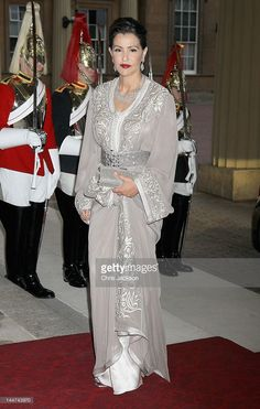 Princess <a gi-track='captionPersonalityLinkClicked' href=/galleries/search?phrase=Lalla+Meryem+of+Morocco&family=editorial&specificpeople=7477070 ng-click='$event.stopPropagation()'>Lalla Meryem of Morocco</a> attends a dinner for foreign Sovereigns to commemorate the Diamond Jubilee at Buckingham Palace on May 18, 2012 in London, England. Prince Charles, Prince of Wales and Camilla, Duchess of Cornwall hosted the event.