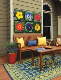 Patio makeover collection - brighten up your patio or porch with these weather-resistant accents.